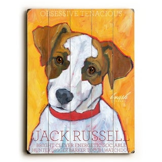 Jack Russell -   Planked Wood Wall Decor by Ursula Dodge