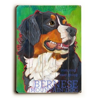 Bernese Mountain Dog -  Planked Wood Wall Decor by  Ursula Dodge