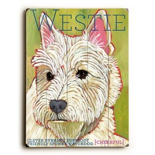 Westie -   Planked Wood Wall Decor by Ursula Dodge