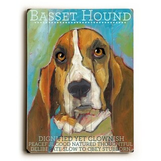 Basset Hound -   Planked Wood Wall Decor by Ursula Dodge