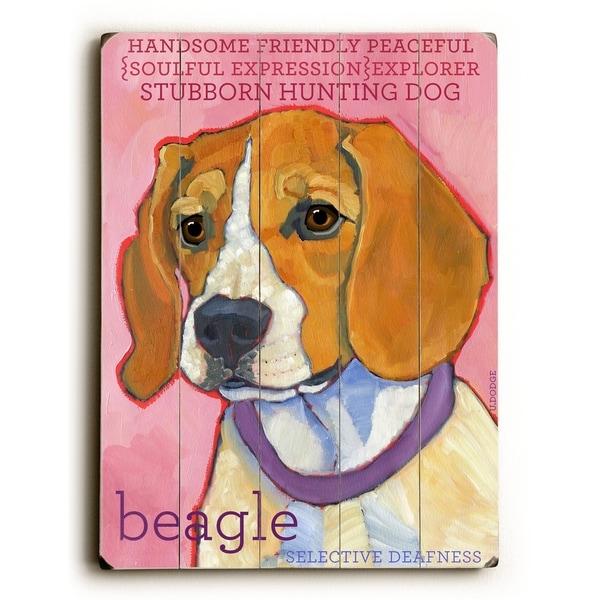 Beagle - Planked Wood Wall Decor by Ursula Dodge
