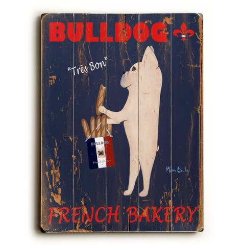 Bull Dog French Bakery - Planked Wood Wall Decor by Ken Bailey