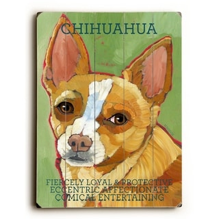 Chihuahua -   Planked Wood Wall Decor by Ursula Dodge