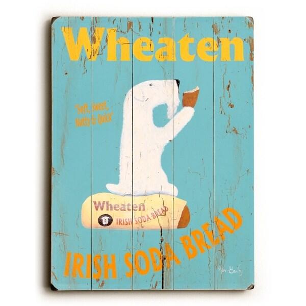 Wheaten Irish Bread - Planked Wood Wall Decor by Ken Bailey