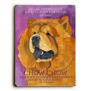 Chow Chow -   Planked Wood Wall Decor by Ursula Dodge