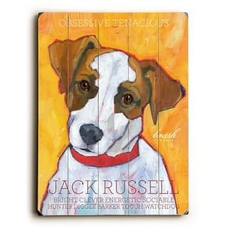 Jack Russel Terrier - Planked Wood Wall Decor by Ursula Dodge