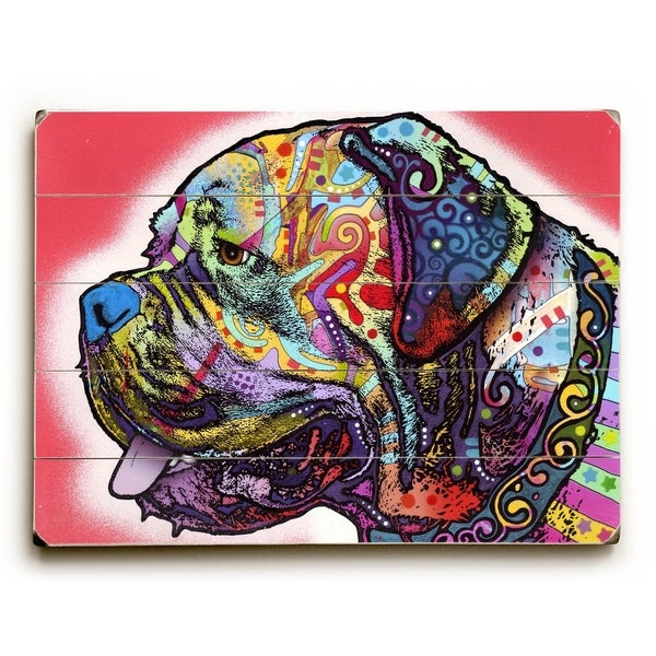 Profile Mastiff - Planked Wood Wall Decor by Dean Russo