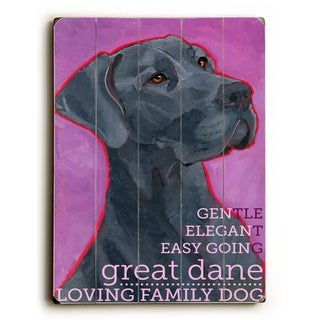 Great Dane  -   Planked Wood Wall Decor by Ursula Dodge