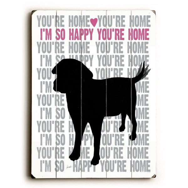You're Home - Planked Wood Wall Decor by Lisa Weedn