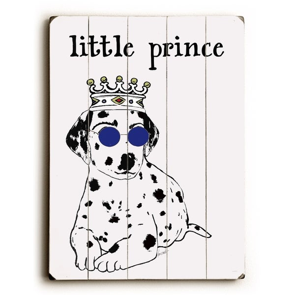 Little Prince - Planked Wood Wall Decor by Lisa Weedn