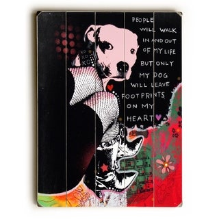 Girls Best Friend -  Planked Wood Wall Decor by  Dean Russo