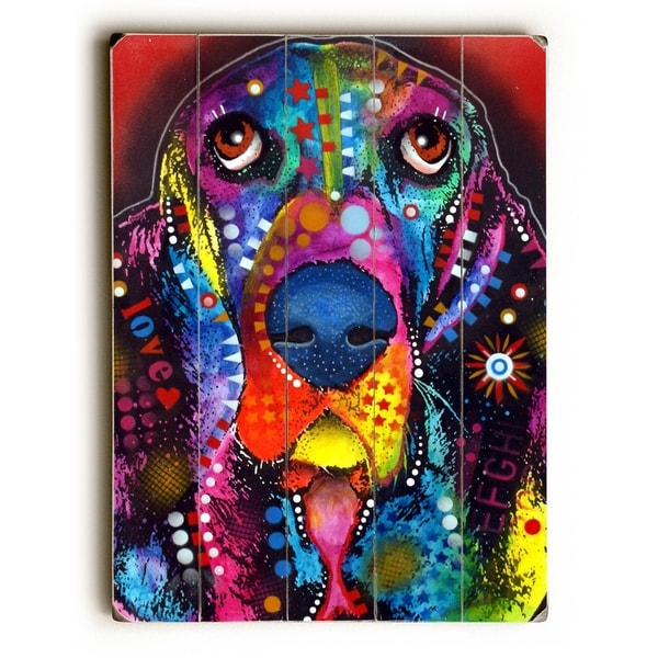 Basset - Planked Wood Wall Decor by Dean Russo