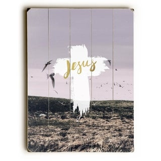 Jesus -   Planked Wood Wall Decor by Pocket Fuel