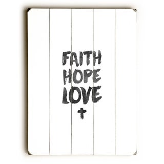 Faith Hope Love -   Planked Wood Wall Decor by Pocket Fuel