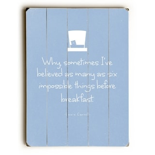 Six things before Breakfast -   Planked Wood Wall Decor by Abbie Smith