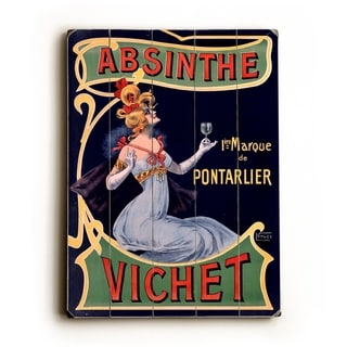 Absinthe Vichet Wine -   Planked Wood Wall Decor by Posters Please