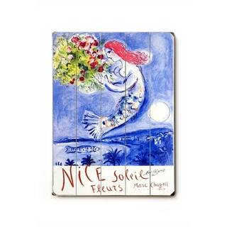 Chagall Nice Soleil Fleurs - Planked Wood Wall Decor by Marc Chagall