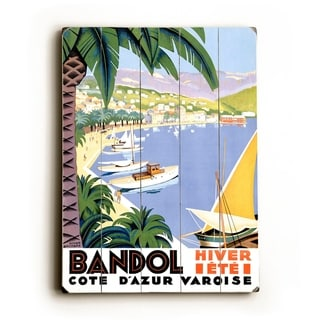 Bandol -   Planked Wood Wall Decor by Posters Please