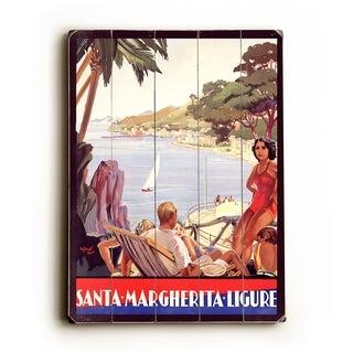 Santa Margherita Portofino Ligure -   Planked Wood Wall Decor by Posters Please