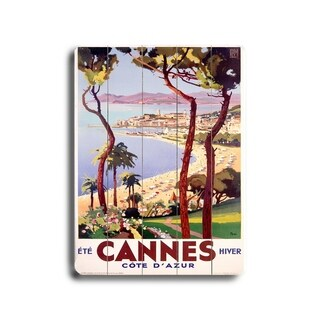 Cannes -   Planked Wood Wall Decor by Posters Please
