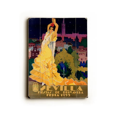 1933 Sevilla Fiesta - Planked Wood Wall Decor by Posters Please