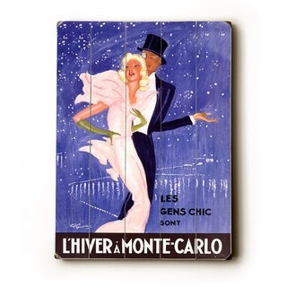 L'Hiver A Monte-Carlo -   Planked Wood Wall Decor by Jean Gabriel Domergue