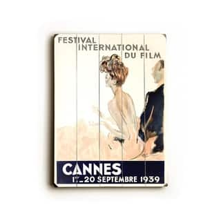 1939 Cannes Film Festival - Planked Wood Wall Decor by Jean Gabriel Domergue