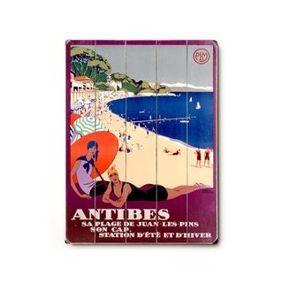 Antibes -   Planked Wood Wall Decor by Posters Please