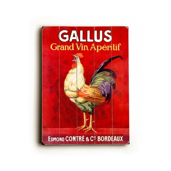 Gallus Vintage Poster - Planked Wood Wall Decor by Leonetto Cappiello