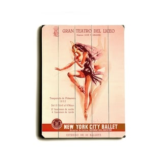 1956 New York City Ballet Poster -   Planked Wood Wall Decor by Posters Please