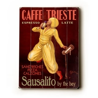Caffe Trieste -   Planked Wood Wall Decor by Posters Please