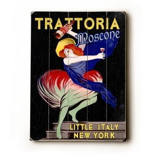 Tarttoria Mosconi -   Planked Wood Wall Decor by Posters Please