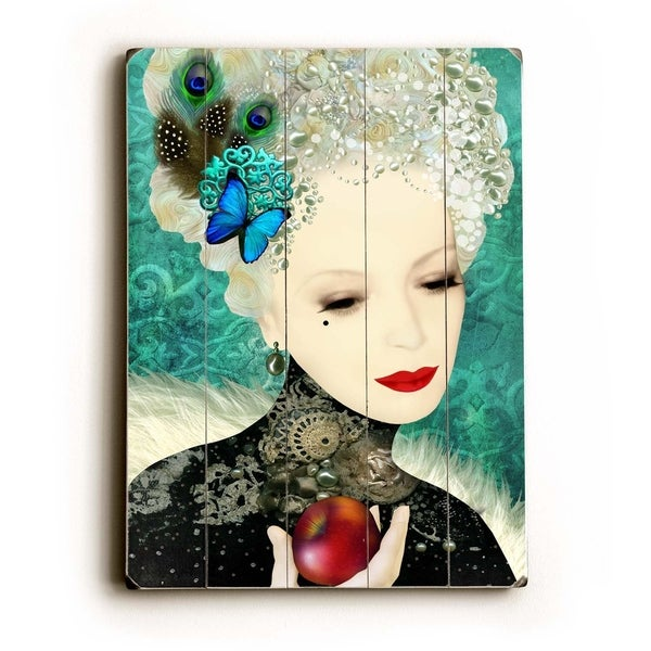 Apple - Planked Wood Wall Decor by Krista Brock