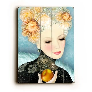 Peach -   Planked Wood Wall Decor by Krista Brock