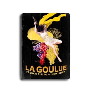 La Goulue rench Bistro - Planked Wood Wall Decor by Posters Please