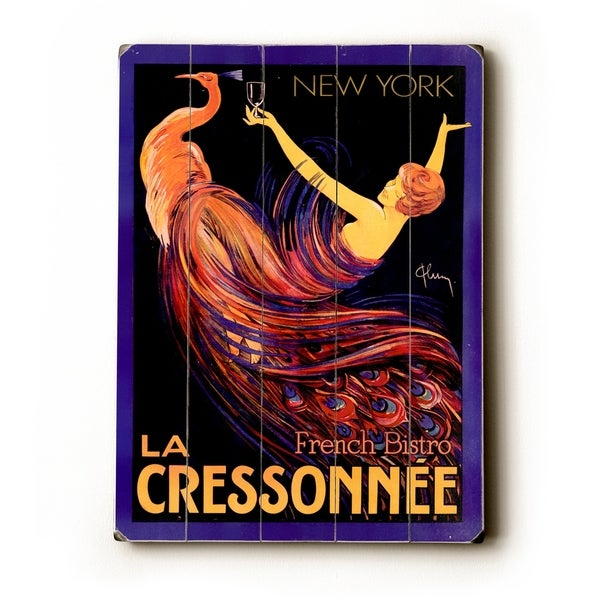La Cressonnee French Bistro - Planked Wood Wall Decor by Posters Please