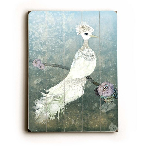 Lovely Dove - Planked Wood Wall Decor by Krista Brock