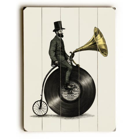 Music Man - Planked Wood Wall Decor by Eric Fan