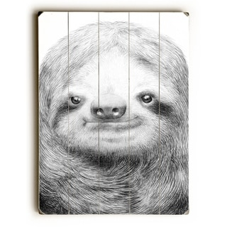 Sloth -   Planked Wood Wall Decor by Eric Fan