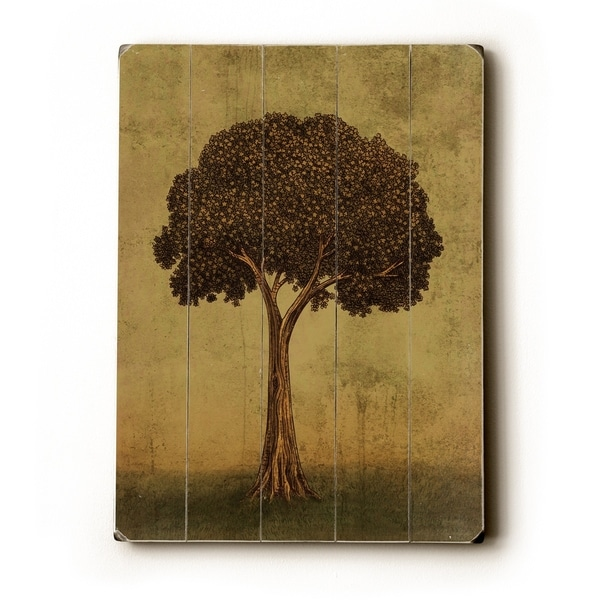Tree - Planked Wood Wall Decor by Terry Fan