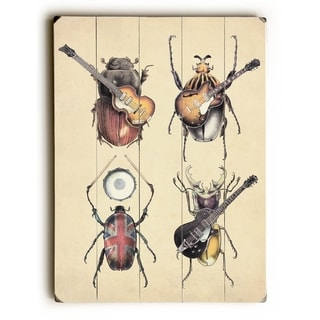 Meet the Beatles -   Planked Wood Wall Decor by Eric Fan