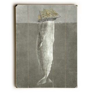 Revenge - Gray  Planked Wood Wall Decor by Terry Fan