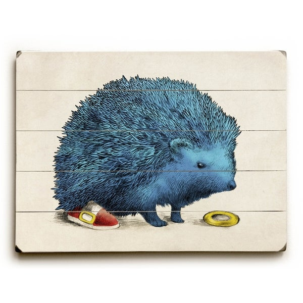 Sonic - Planked Wood Wall Decor by Eric Fan