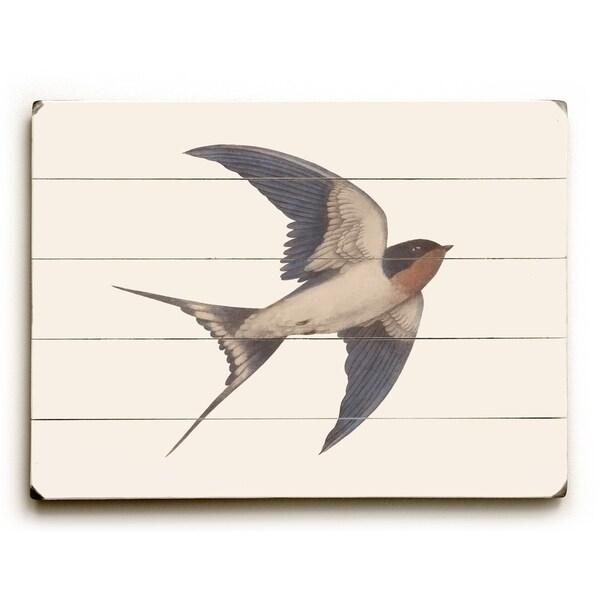 Barn Swallow - Multi Planked Wood Wall Decor by Terry Fan