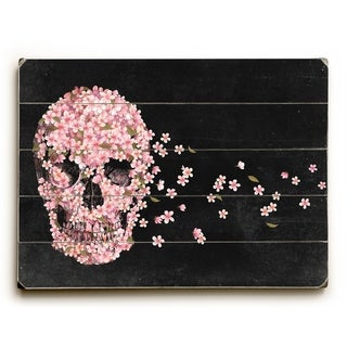 A Beautiful Death Black - Multi  Planked Wood Wall Decor by Terry Fan