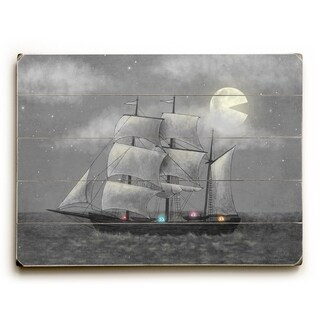 Ghost Ship - Multi  Planked Wood Wall Decor by Terry Fan
