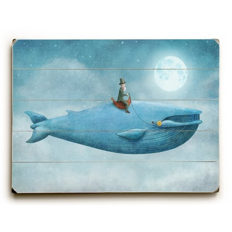Whale Rider - Multi Planked Wood Wall Decor by Terry Fan