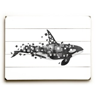 Fractured Killer Whale - Multi  Planked Wood Wall Decor by Terry Fan