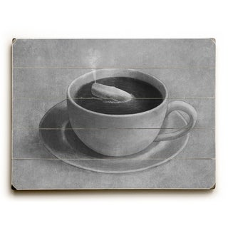 Whale in a Teacup - Gray  Planked Wood Wall Decor by Terry Fan