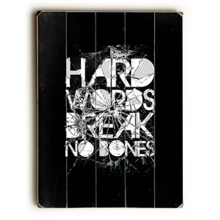 Hard Words - Multi  Planked Wood Wall Decor by Ali Gulec